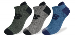 Mens Heather Invisible 3PK Sock